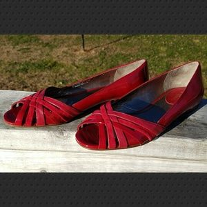 Cole Haan nike air red open toe flats 8.5